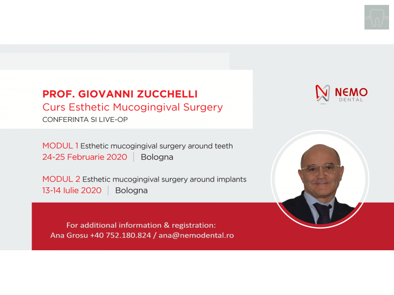 Esthetic Mucogingival Surgery by Prof. Dr. GIOVANNI ZUCCHELLI - Bologna - 2020