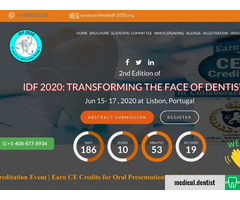 IDF 2020 - Transforming the Face of Dentistry (Lisbon, 15-17 June 2020)
