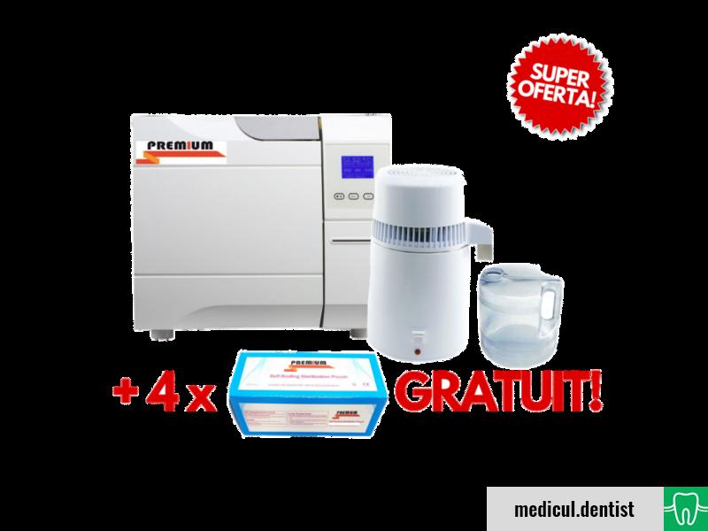 Autoclav Premium 8l+ Distilator+ Gratuit 2ct pungi autosigilante 90x260mm+2ct 57x130mm