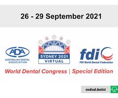 FDI World Dental Congress 2021 (Online, 26-29 September 2021)