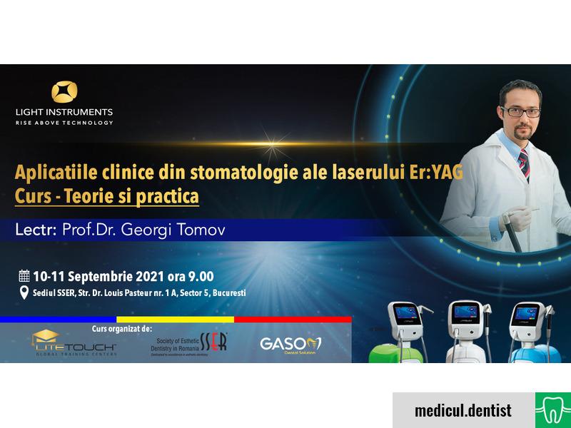 Aplicatiile clinice din stomatologie ale laserului Er:YAG Curs - Teorie si practica